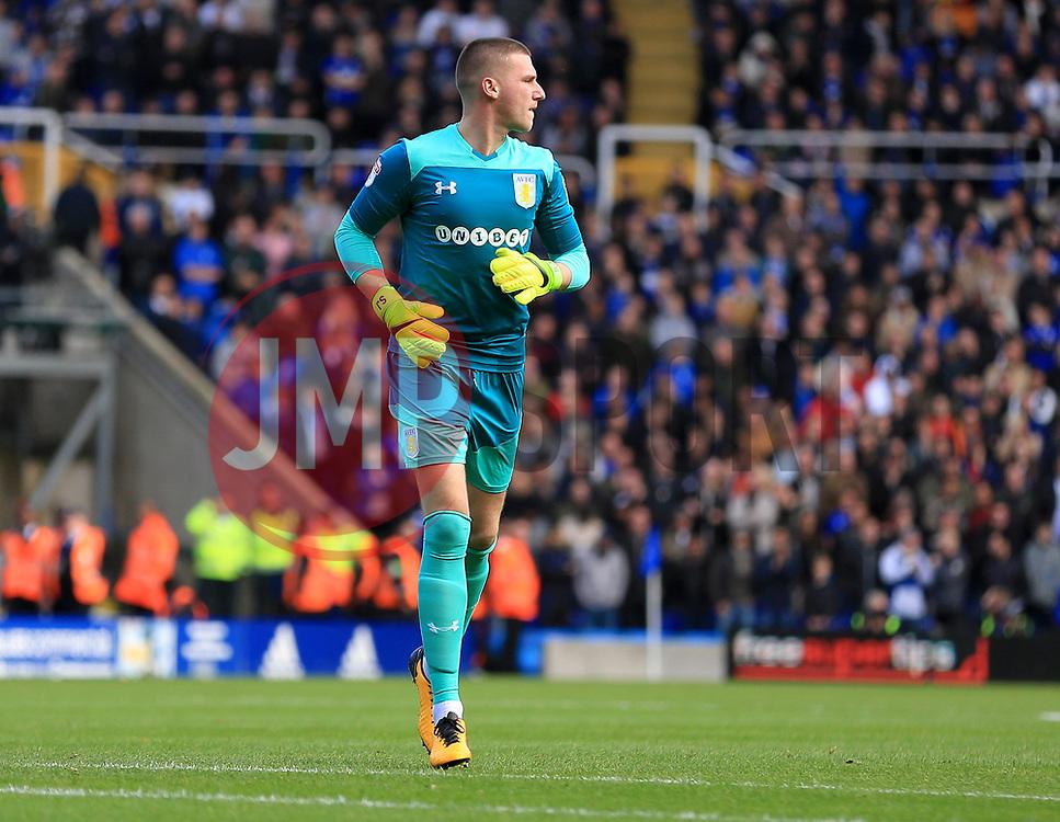 Sam Johnstone of Aston Villa - Mandatory by-line: Paul Roberts/JMP - 29/10/2017 - FOOTBALL - St Andrew's Stadium - Birmingham, England - Birmingham City v Aston Villa - Skybet Championship