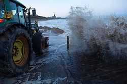 © Licensed to London News Pictures. 6/12/13. Newcastle Upon Tyne. UK. A high tide surge threatens local business along shore on the North east coast. Photo credit : John Millard/LNP