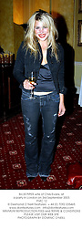 BILLIE PIPER wife of Chris Evans, at a party in London on 3rd September 2003.<br /> PMC 12