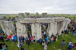 © Licensed to London News Pictures. 20/06/2016. STONEHENGE, WILTSHIRE, UK.  <br /> Sunrise. Summer solstice at the ancient stone circle at Stonehenge World Heritage site in Wiltshire..  Photo credit: MARK HEMSWORTH/LNP