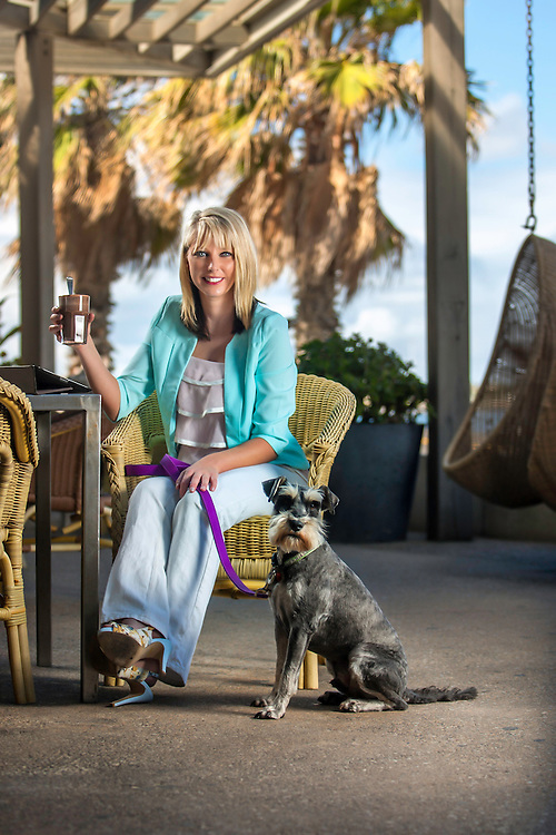 Dog Society Founder Tanya Hynes with Winston at St Kilda Beach and Republica Cafe. Photo By Craig Sillitoe. ..MAY BE ARCHIVED AND USED ONLY FOR EDITORIAL PURPOSES RELATING 'DOG SOCIETY' AND TANYA HYNES. For all other purposes contact Craig Sillitoe Photography, craig@csillitoe.com Ph 61-419-345162 This photograph can be used for non commercial uses with attribution. Credit: Craig Sillitoe Photography / http://www.csillitoe.com<br />