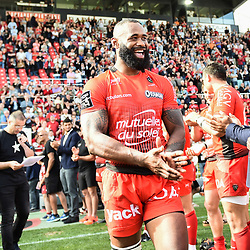 Semi Radradra of Toulon during the French Top 14 match between RC Toulon and Castres at Felix Mayol Stadium on April 28, 2018 in Toulon, France. (Photo by Alexandre Dimou/Icon Sport)