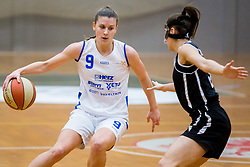 Eva Prevodnik of ZKK Triglav Kranj during basketball match between ZKK Triglav Kranj and ZKD Maribor in Round #1 of 1. Slovenian Woman basketball league, on February 20, 2018 in ŠD Planina, Kranj, Slovenia. Photo by Ziga Zupan / Sportida
