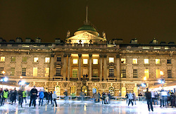 Skaters at a party to celebrate the opening of the annual Somerset House Ice Rink at Somerset House, London on 23rd November 2005.<br />