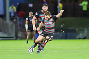 Duncan Weir scores second penalty during the Guinness Pro 14 2017_18 match between Edinburgh Rugby and Dragons Rugby at Myreside Stadium, Edinburgh, Scotland on 8 September 2017. Photo by Kevin Murray.