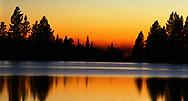 Manzanita Lake in Lassen Volcanic National Park on a warm summer evening.