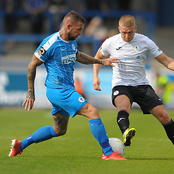 TELFORD COPYRIGHT MIKE SHERIDAN Darryl Knights of Telford during the National League North fixture between AFC Telford United and Chester FC at the New Bucks Head on Saturday, September 14, 2019<br /> <br /> Picture credit: Mike Sheridan<br /> <br /> MS201920-018