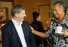 Rarotonga-Prime Minister Bill English leaves after visit to Cook Islands