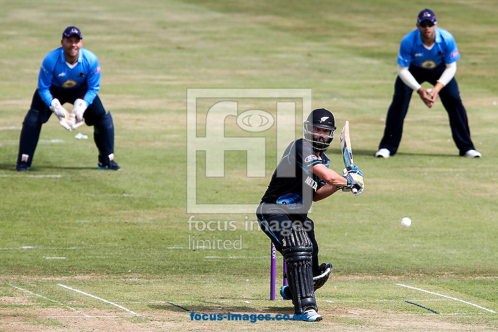Anton Devcich of New Zealand A (centre)  during the Tour Match match at the County Ground, Northampton, Northampton<br /> Picture by Andy Kearns/Focus Images Ltd 0781 864 4264<br /> 31/07/2014