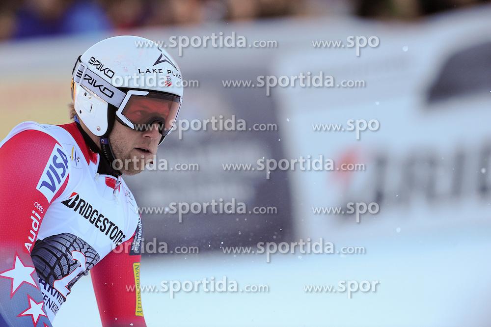 30.01.2016, Kandahar, Garmisch Partenkirchen, GER, FIS Weltcup Ski Alpin, Garmisch Partenkirchen, Abfahrt, Herren, im Bild Andrew Weibrecht (USA) // Andrew Weibrecht of United States reacts after his run of the men's Downhill of Garmisch FIS Ski Alpine World Cup at the Kandahar in Garmisch Partenkirchen, Germany on 2016/01/30. EXPA Pictures © 2016, PhotoCredit: EXPA/ Erich Spiess