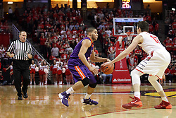15 January 2016: Gerry Pollard watches the action between D.J. Balentine(31) and Justin McCloud(15) during the Illinois State Redbirds v Evansville Purple Aces at Redbird Arena in Normal Illinois (Photo by Alan Look)