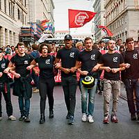 Studenti manifestano contro la riforma della scuola del Governo Renzi