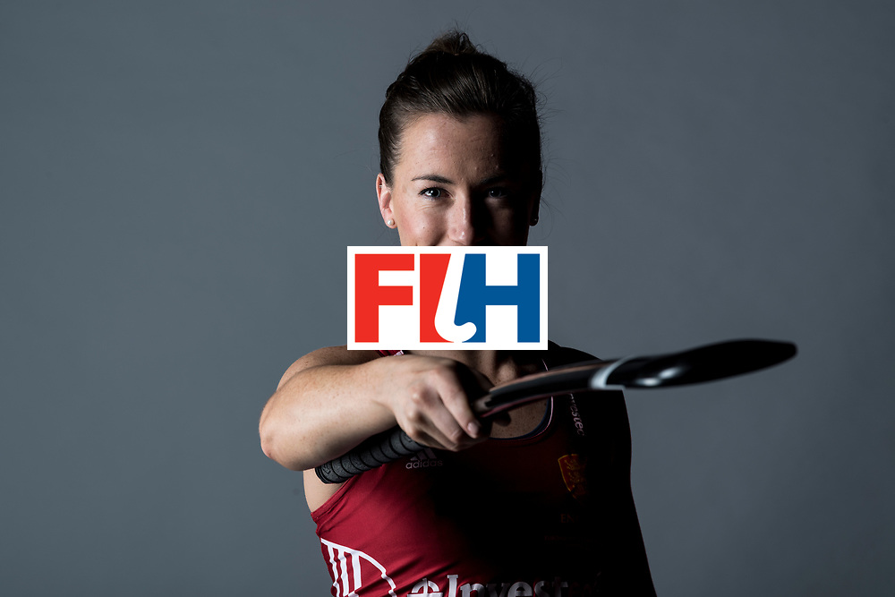 CHANDIGARH, INDIA - FEBRUARY 23: Maddie Hinch of England and Great Britain during the photocall for International Hockey Federation  before the FIH Hockey Stars Awards 2016 at Lalit Hotel on February 23, 2017 in Chandigarh, India. (Photo by Ali Bharmal/Getty Images for FIH)