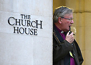 © Licensed to London News Pictures. 21/11/2012. westminster, UK Martin Wharton Bishop of Newcastle at Church House in Westminster, London for day three of the three-day Church of England General Synod. Members last night voted against ordaining women as priests.. Photo credit : Stephen Simpson/LNP