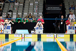 KRUGER Lisa, PASCOE Sophie, ZHANG Meng NED, NZL, CHN at 2015 IPC Swimming World Championships -  Women's 100m Breastroke SB9