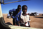 Curious children in Tal Hala in Mauritania