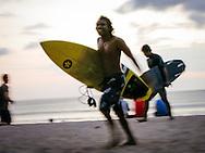 Kuta Beach, Bali, Indonesia, surfers