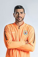 **EXCLUSIVE**Portrait of Italian soccer player Graziano Pelle of Shandong Luneng Taishan F.C. for the 2018 Chinese Football Association Super League, in Ji'nan city, east China's Shandong province, 24 February 2018.
