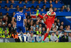 Dejan Lovren of Liverpool high kick - Mandatory by-line: Jason Brown/JMP - 16/09/2016 - FOOTBALL - Stamford Bridge - London, England - Chelsea v Liverpool - Premier League