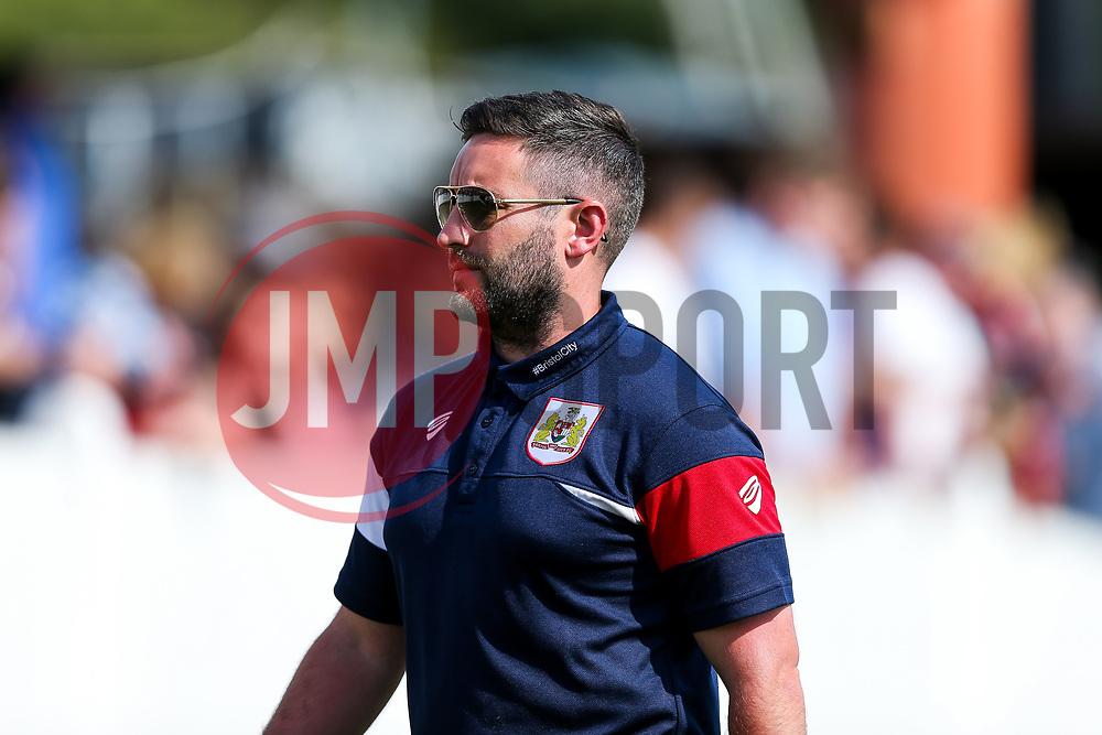 Bristol City Head Coach Lee Johnson comes in at half time - Rogan/JMP - 09/07/2017 - The Creek - Bristol, England - Bristol Manor Farm v Bristol City - Pre-season Friendly.