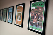 Vintage billiards magazines are on display at Three Cushion Billiards in Madison, WI on Friday, May 10, 2019.
