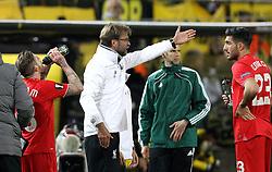 Liverpool Manager Jurgen Klopp issues instruction to Emre Can of Liverpool - Mandatory by-line: Robbie Stephenson/JMP - 07/04/2016 - FOOTBALL - Signal Iduna Park - Dortmund,  - Borussia Dortmund v Liverpool - UEFA Europa League Quarter Finals First Leg
