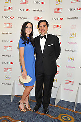 EDUARDO SANCHEZ-PEREZ and VICTORIA PENDLETON at the 20th CEW (UK) Achiever Awards 2012 - celebrating two decades of women, passion, beauty, held at the Hilton, park Lane, London on 16th October 2012.