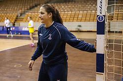 Branka Zec during practice session of Slovenian Women handball National Team three days before match against Serbia, on October 24, 2013 in Arena Tivoli, Ljubljana, Slovenia. (Photo by Vid Ponikvar / Sportida)