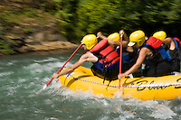 Whitewater rafting on the White Salmon River, WA.
