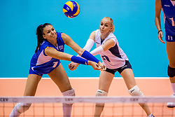 23-08-2017 NED: World Qualifications Greece - Slovenia, Rotterdam<br /> Sloveni&euml; wint met 3-0 / Areta Konomi #10 of Greece