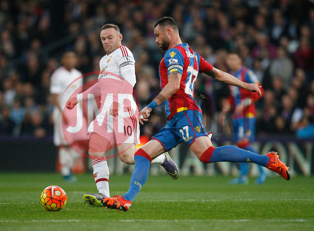 Wayne Rooney of Manchester United (L) and Damien Delaney of Crystal Palace in action  - Mandatory byline: Jack Phillips/JMP - 07966386802 - 31/10/2015 - SPORT - FOOTBALL - London - Selhurst Park Stadium - Crystal Palace v Manchester United - Barclays Premier League