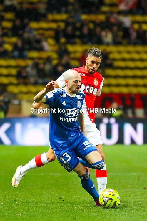Chirstophe JALLET / Yannick FERREIRA CARRASCO - 01.02.2015 - Monaco / Lyon - 23eme journee de Ligue 1 -<br /> Photo : Serge Haouzi / Icon Sport