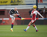 Dundee's James Vincent fires in a shot  - Dundee v Rangers in the Ladbrokes Scottish Premiership at Dens Park, Dundee.Photo: David Young<br /> <br />  - © David Young - www.davidyoungphoto.co.uk - email: davidyoungphoto@gmail.com