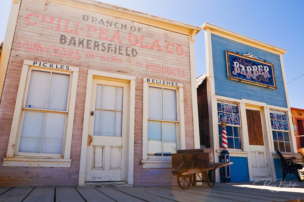 Store and barber shop at the ghost town of Randsburg, California