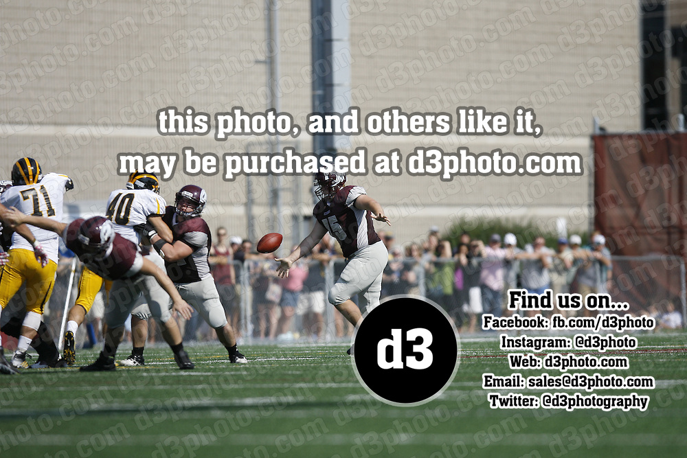140927-AUGS-GAC<br /> Augsburg Homecoming<br /> First Half Action<br /> Score at Half: Gustavus 20 - Augsburg 10