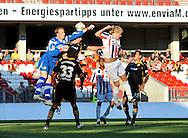 05-08-2008 Voetbal:FC ENERGIE COTTBUS:WILEM II:COTTBUS<br /> Een grote kans voor Willem II als doelman Gerhard Tremmel naast de kopbal van Demouge stompt<br /> <br /> Foto: Geert van Erven