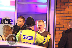 Manchester 22.09.2016 Manchester and Salfrod Students continue to  go out in large numbers getting drunk being sick and  fighting with each other