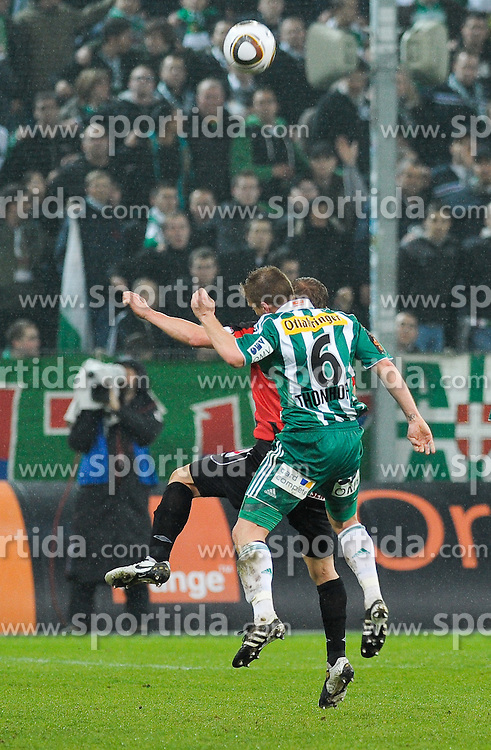 13.04.2010, Hanappi Stadion, AUT, 1. FBL, SK Rapid Wien vs Lask Linz, im Bild Christian Thonhofer, SK Rapid Wien beim Kopfballduell, EXPA Pictures © 2010, PhotoCredit: EXPA / G. Holoubek / SPORTIDA PHOTO AGENCY