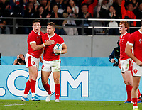 Rugby Union - 2019 Rugby World Cup - Bronze Final (Third Place Play-Off): Wales vs. France<br /> <br /> Hallam Amos of Wales celebrates a try at Tokyo Stadium, Tokyo.<br /> <br /> COLORSPORT/LYNNE CAMERON