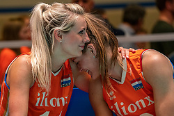 30-05-2019 NED: Volleyball Nations League Netherlands - Poland, Apeldoorn<br /> Disappointment by Laura Dijkema #14 of Netherlands, Nika Daalderop #19 of Netherlands