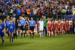 July 19, 2017 - Philadelphia, PA, USA - Philadelphia, PA - Wednesday July 19, 2017: USMNT and El Salvador starting eleven's during a 2017 Gold Cup match between the men's national teams of the United States (USA) and El Salvador (SLV) at Lincoln Financial Field. (Credit Image: © Brad Smith/ISIPhotos via ZUMA Wire)