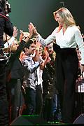 Koningin Maxima met de Grootste Schoolband van Nederland tijdens het Kerst Muziekgala 2018 in de Brabanthallen, Den Bosh.<br /> <br /> Queen Maxima with the Greatest School Band of the Netherlands during the Christmas Music Gala 2018.<br /> <br /> op de foto / On the photo: Koningin Maxima / Queen Maxima