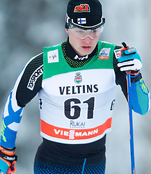 30.11.2014, Nordic Arena, Ruka, FIN, FIS Weltcup Langlauf, Kuusamo, 15 km Herren, im Bild Juho Mikkonen (FIN) // Juho Mikkonen of Finland during Mens 15 km Cross Country Race of FIS Nordic Combined World Cup at the Nordic Arena in Ruka, Finland on 2014/11/30. EXPA Pictures © 2014, PhotoCredit: EXPA/ JFK
