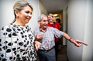 Queen Maxima of The Netherlands visits iZi Gezond Lang Thuis and Haags Ontmoeten care institutions in The Hague, The Netherlands, 1 June 2018. Theme of the visits are innovation in elderly policies and elderly care in The Hague. Photo: ROBIN UTRECHT