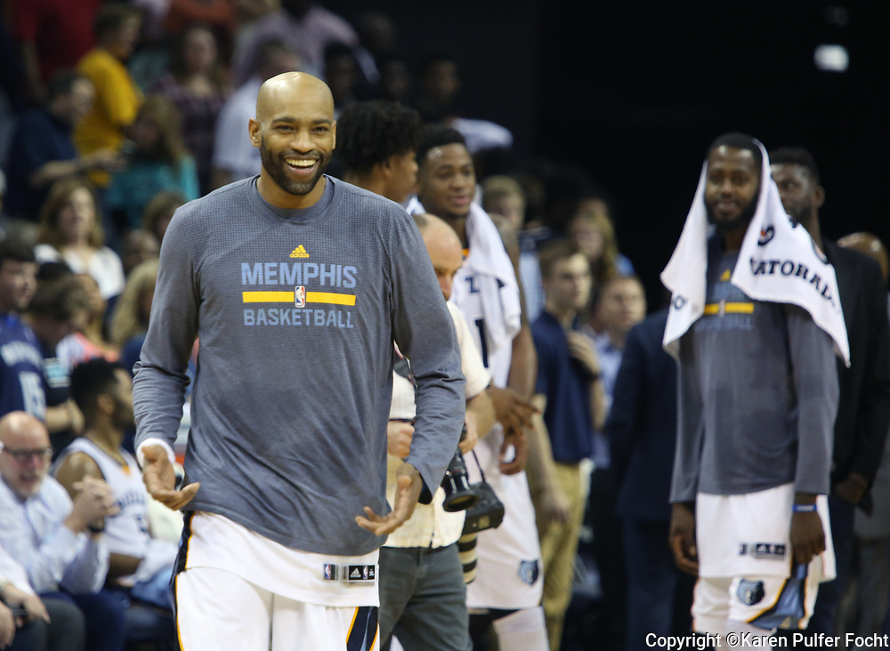 Vince Carter, Memphis Grizzlies, is the oldest player in the NBA. © Karen Pulfer Focht-ALL RIGHTS RESERVED-NOT FOR USE WITHOUT WRITTEN PERMISSION