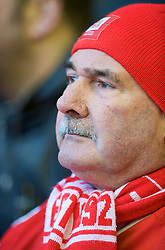 LIVERPOOL, ENGLAND - Saturday, January 30, 2010: A Liverpool supporter during the Premiership match against Bolton Wanderers at Anfield. (Photo by: David Rawcliffe/Propaganda)
