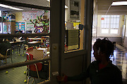 Third-grader Tyra McGhee enters class at Adelaide Davis Elementary School on Nov. 26, 2012 in Washington, D.C. Last week DCPS Chancellor Kaya Henderson proposed closing 20 under-enrolled schools in the District. Davis Elementary is one of 20 schools in the DCPS system included in the school closure proposal. There are currently 178 students enrolled in Davis Elementary and the second floor of the school is only used for music classes and the library...CREDIT: Lexey Swall for The Wall Street Journal.DCSCHOOLS