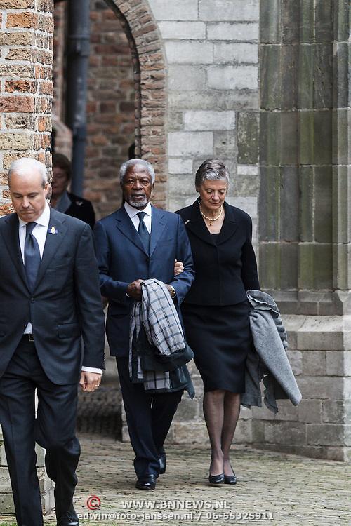 NLD/Delft/20131102 - Herdenkingsdienst voor de overleden prins Friso, Kofi Annan en partner