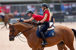 Blum Simone, GER, Klaphake Laura, GER<br /> World Equestrian Games - Tryon 2018<br /> © Hippo Foto - Dirk Caremans<br /> 18/09/2018