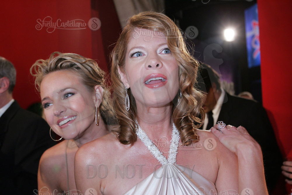 28 April 2006: Actress Michelle Stafford and Sharon Case behind the scenes in the STAR greenroom at the 33rd Annual Daytime Emmy Awards at the Kodak Theatre at Hollywood and Highland, CA. Contact photographer for usage availability.